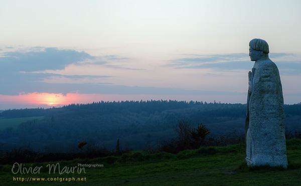 Les géants de la vallée au coucher de soleil