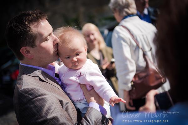 Reportage photos baptême de Marion