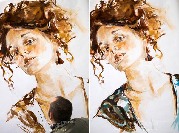 Photos d'une peinture de Frank-e Rannou