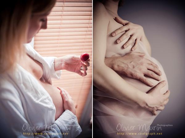 Photo de détails pour grossesse avec un fraise