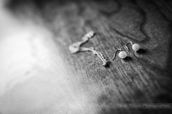 détails des accessoires bijoux de la mariée
