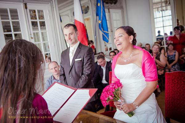 Eclats de rires de la mariée 2012