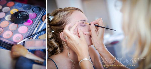 Préparatifs 2012 maquillage pour Vanessa