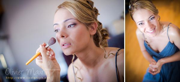 Préparatifs maquillage pour Vanessa