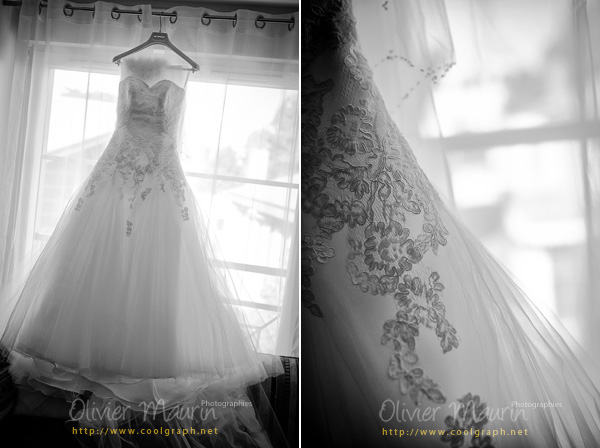 Photos de la robe de la mariée