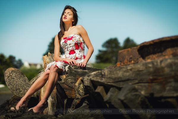 Portrait de modèle mode