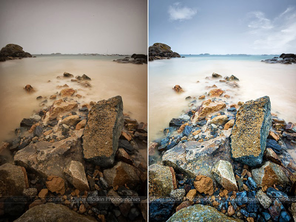 Process photo avant / après pendant le stage photo