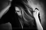 Séance photo portrait en noir et blanc