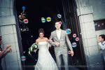 Sortie d'église des mariés