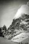 La vallée de la Vallouise en noir et blanc