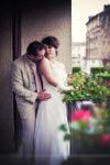 Moment d'intimité des mariés